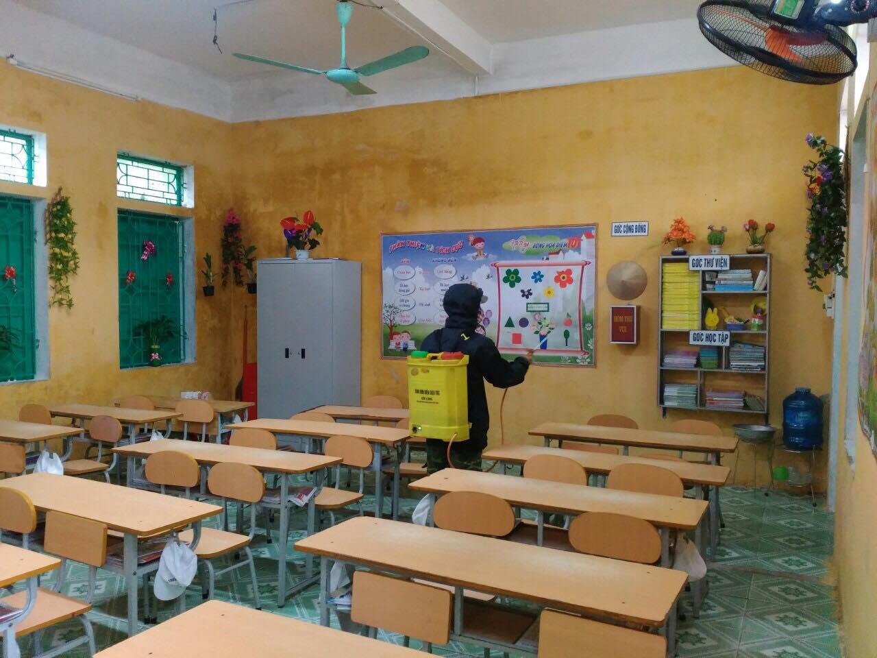 Công tác phòng chống dịch Corona của trường TH Nam Hùng